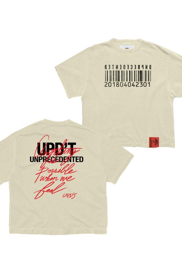 【受注商品7月下旬お届け予定】UPD'T - PIGMENT TAGGING Tシャツ(VANNILA)