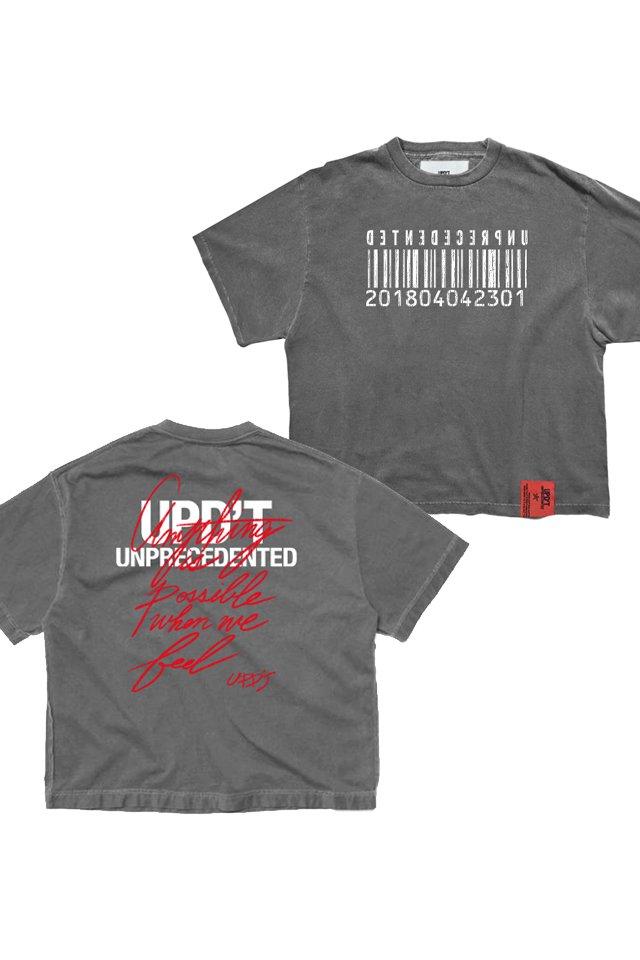 【受注商品7月下旬お届け予定】UPD'T - PIGMENT TAGGING Tシャツ(ASH BLACK)