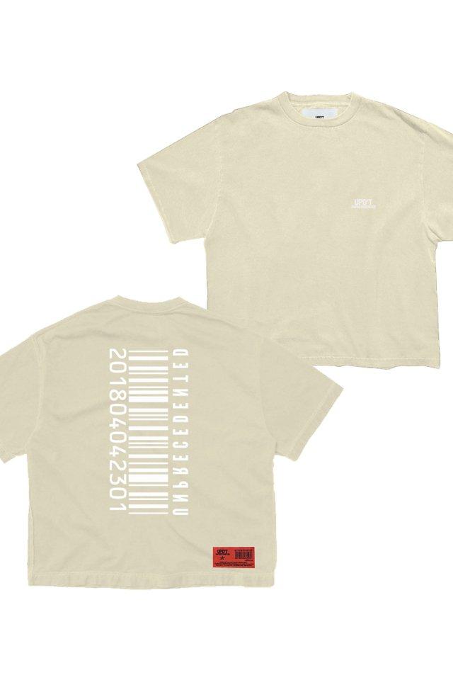 【受注商品7月下旬お届け予定】UPD'T - PIGMENT LOGO Tシャツ(VANILLA)