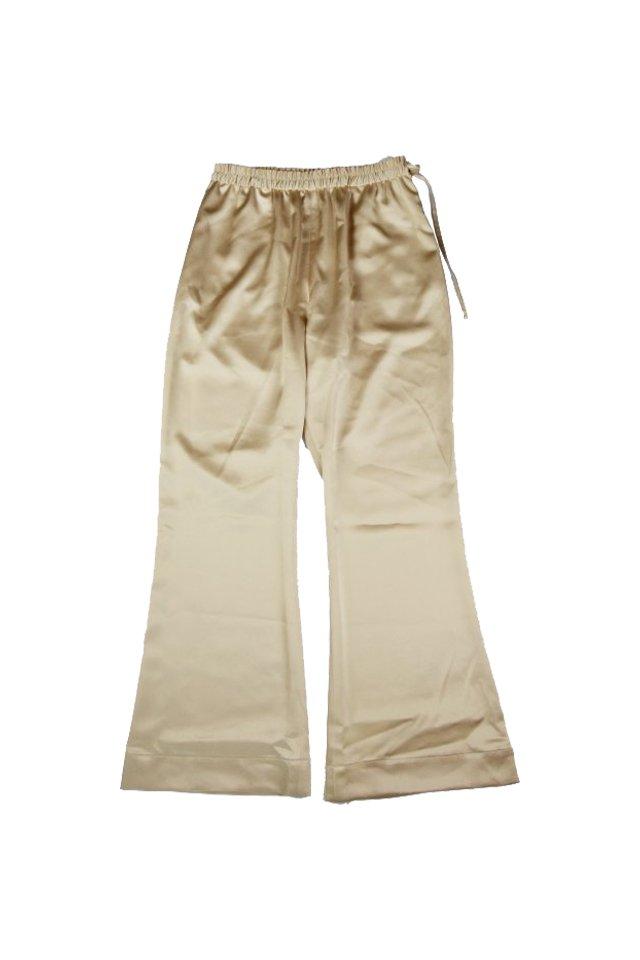 kenichi. - Satin flare trousers(Beige)
