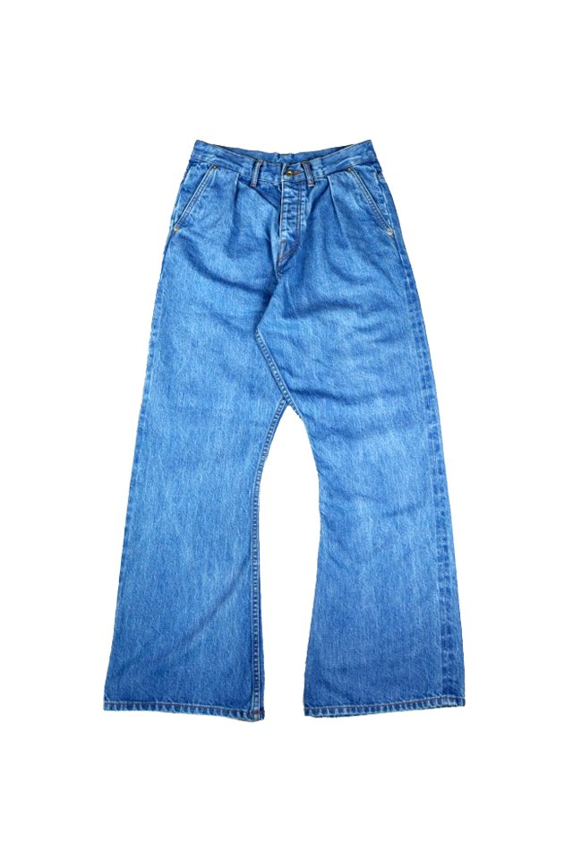 kenichi. - Bootcut jeans(Cobalt blue)
