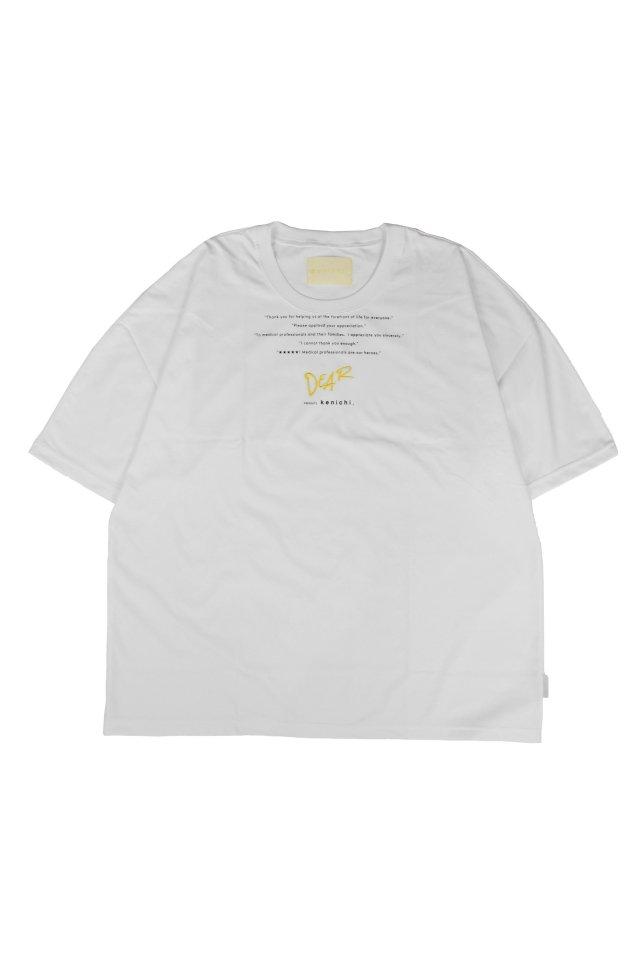 kenichi. - <Dear> dolman T-shirt(White)