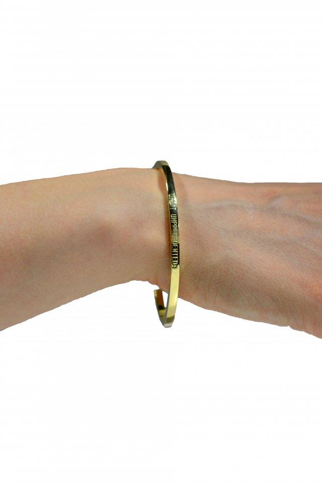 【受注商品7月下旬お届け予定】UPD'T - GOLD STAR  BRACELET(GOLD)(Glossy)