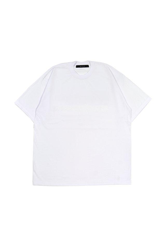 MUZE BLACK LABEL - DOPPELGANGER LOGO T-SH(WHITE×WHITE)