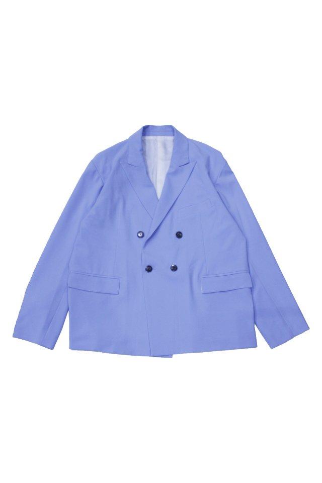 kenichi. - Double-brested suit jacket(Zenith blue)