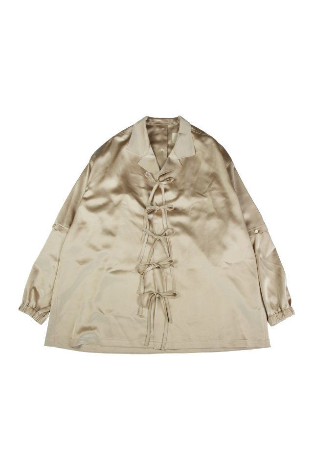 kenichi. - Satin pajama shirt(Beige)