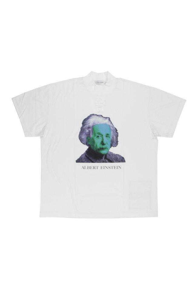TENDER PERSON - Einstein MOCKNECK TEE(WHITE) 2021SSCOLLECTION