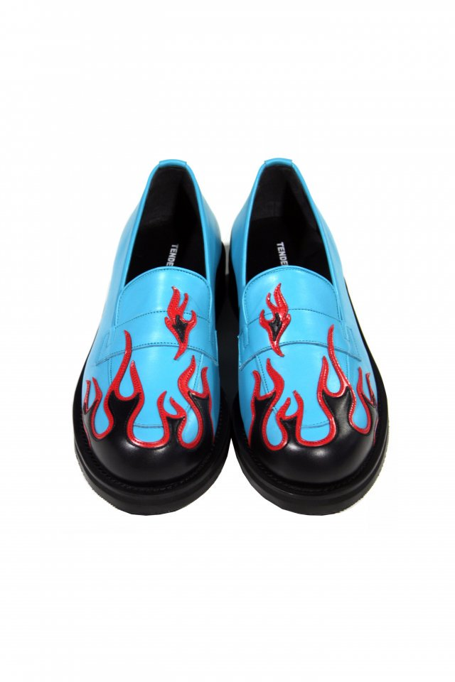 TENDER PERSON - FLAME PATTERN SHOES(BLUE) テンダーパーソン