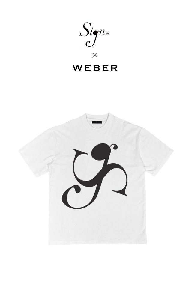 【先行予約アイテム限定商品10月下旬-11月上旬お届け予定】Sign1019 × WEBER - Sign1019 LOGO T-SH(WHITE)