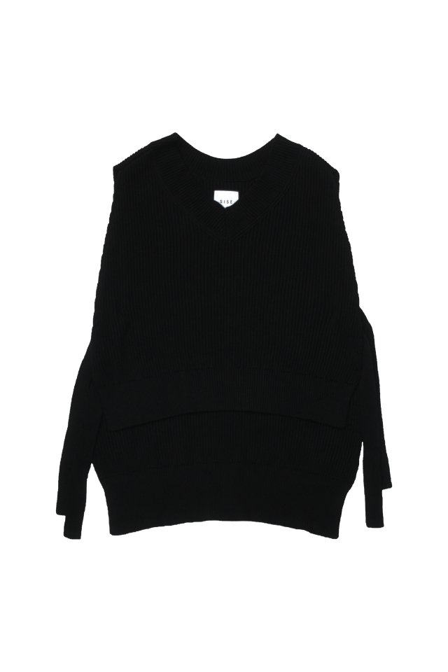 <img class='new_mark_img1' src='https://img.shop-pro.jp/img/new/icons1.gif' style='border:none;display:inline;margin:0px;padding:0px;width:auto;' />SISE - KNIT VEST(BLACK)
