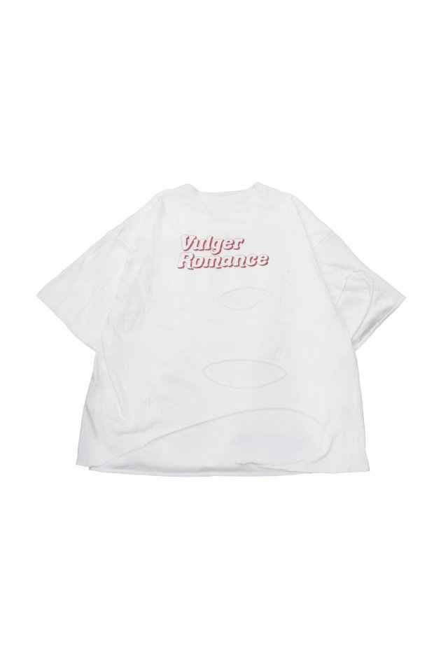 el conductorH -DOUBLE LAYERED USED T-SHIRT (WHITE)