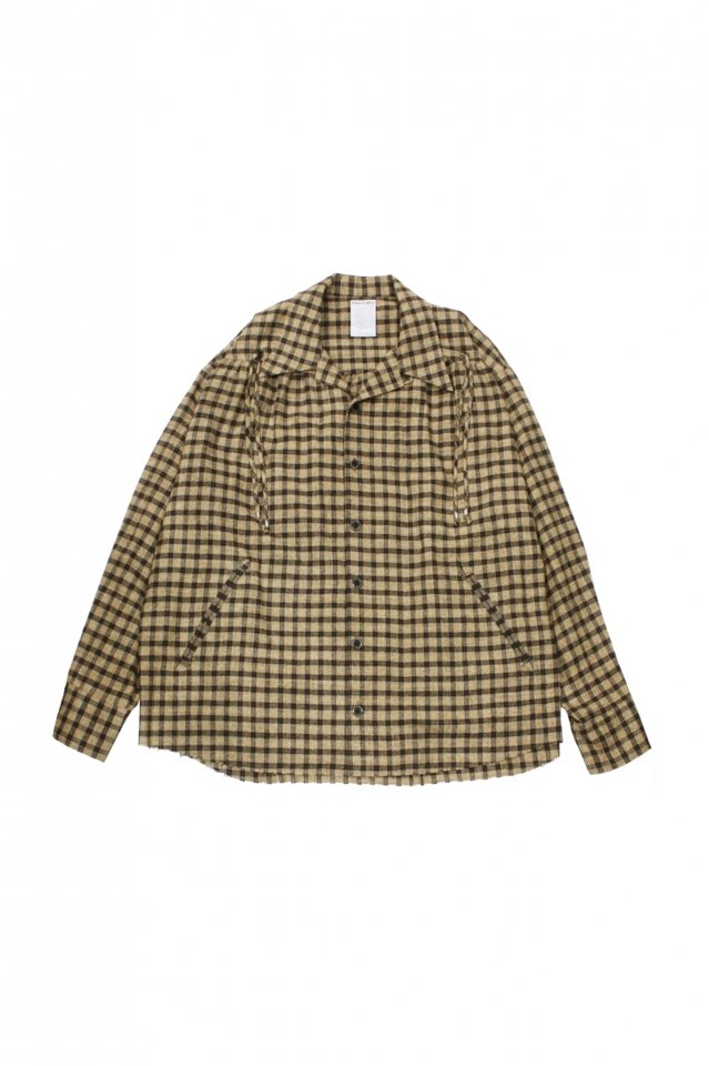 <img class='new_mark_img1' src='https://img.shop-pro.jp/img/new/icons1.gif' style='border:none;display:inline;margin:0px;padding:0px;width:auto;' />FACCIES - French Western Shirt (Beige Check)