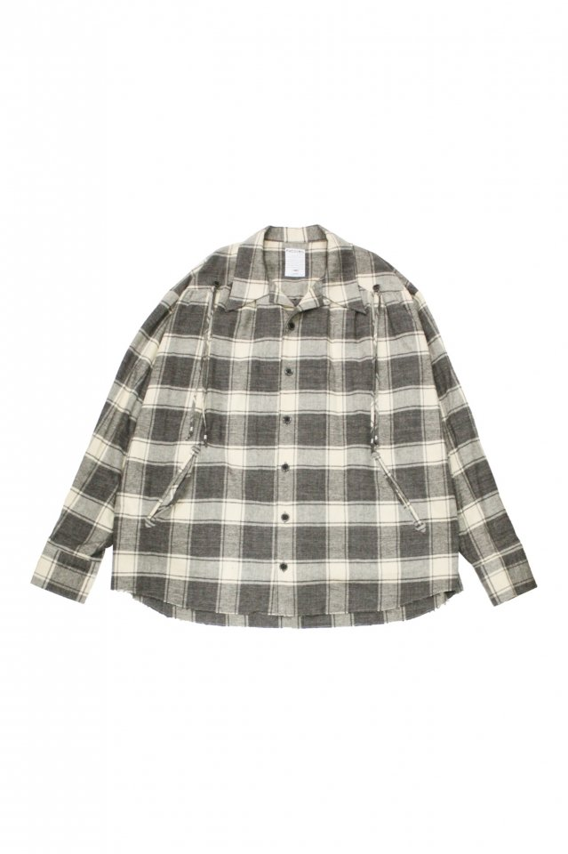<img class='new_mark_img1' src='https://img.shop-pro.jp/img/new/icons1.gif' style='border:none;display:inline;margin:0px;padding:0px;width:auto;' />FACCIES - French Western Shirt (Gray Check)