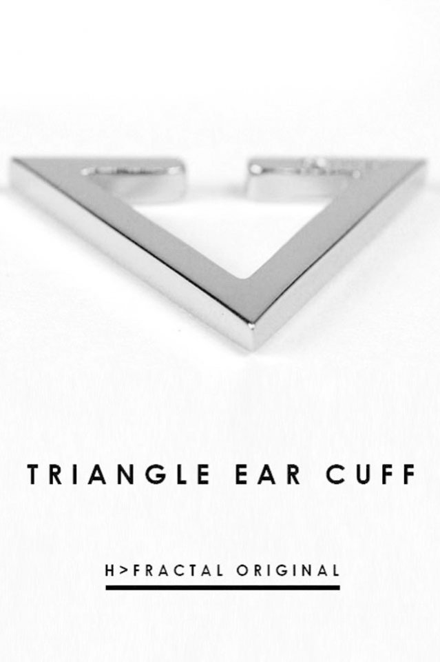 H>FRACTAL ORIGINAL TRIANGLE EAR CUFF(SILVER)
