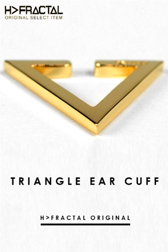 H>FRACTAL ORIGINAL TRIANGLE EAR CUFF(GOLD)