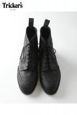 Tricker's -  DOUBLE MONK STRAIGHT TIP (BLACK・WAXY SUEDE)