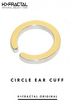H>FRACTAL ORIGINAL CIRCLE EAR CUFF(GOLD)