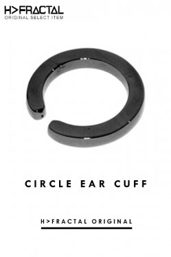 H>FRACTAL ORIGINAL CIRCLE EAR CUFF-(GUNMETAL BLACK) エイチフラクタル サークルイヤーカフ