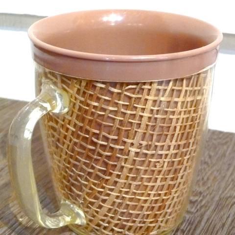 Brown Melmac Raffia Mug