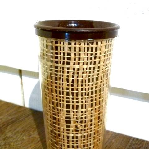 Dark Brown Melmac Raffia Tumbler