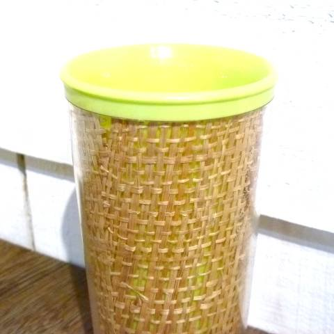 Lime Green Melmac Raffia Tumbler