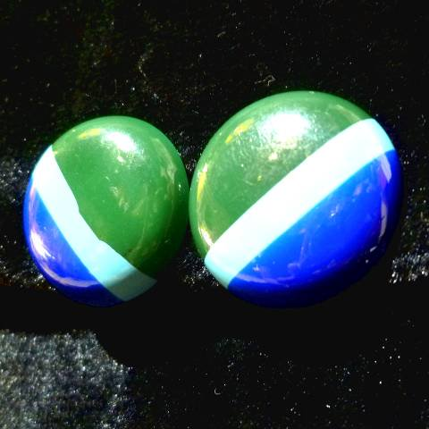 Green x Blue Border Earrings