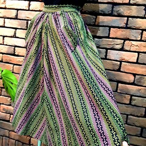 50's Stripe Pattern Skirt