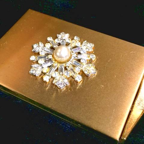 Gold Compact Mirror