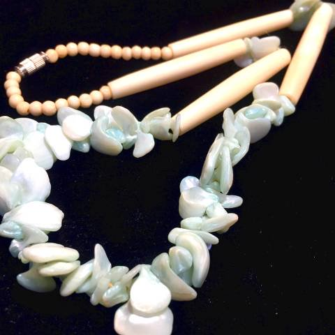 Blue Dyed Shell Necklace