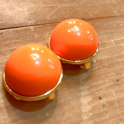 Orange Ball Earrings