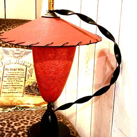 Red Fiberglass Desk Lamp