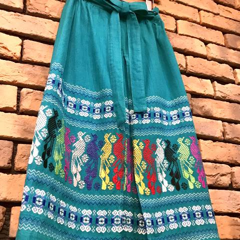 Guatemala Green Wrap Skirt