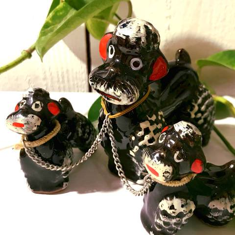 Black Poodle Family Decor
