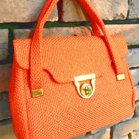 """JR"" Orange Purse"