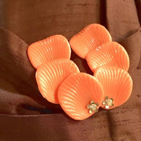 Orange Big Earrings
