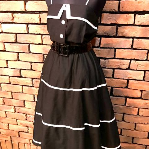 Black w/White Line Dress