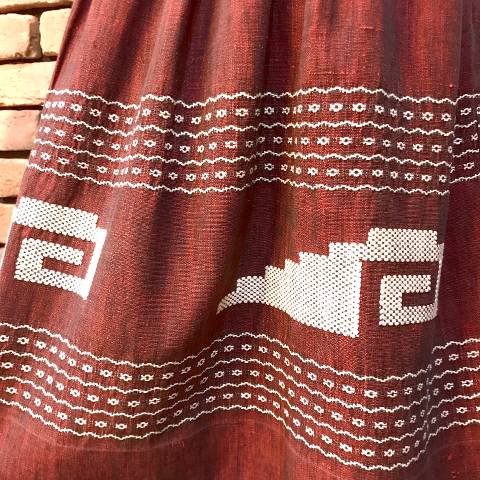 Burgundy Guatemala Skirt