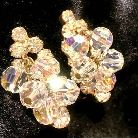 Rhinestone & Crystal Beads Earrings