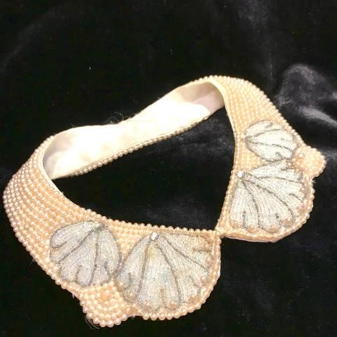 Shell Motif Beaded Collar