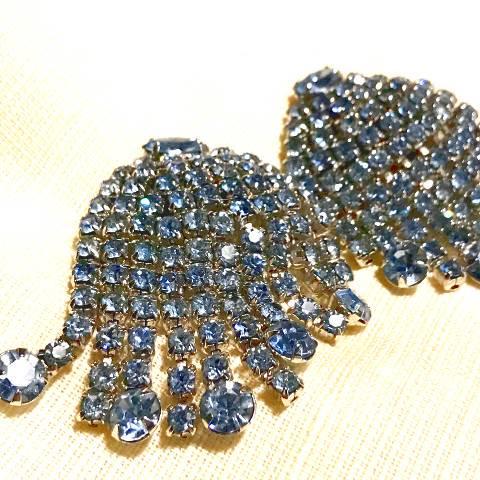 Light Blue Rhinestone Earrings