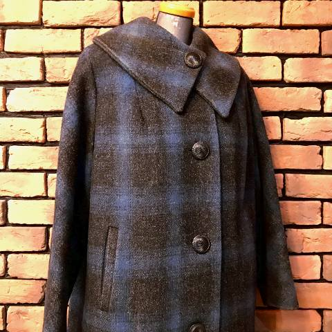 Shadow Check Wool Coat
