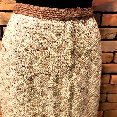 Nep Wool Pencil Skirt
