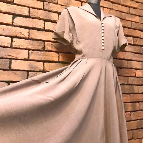 Italian Collared Rayon Dress