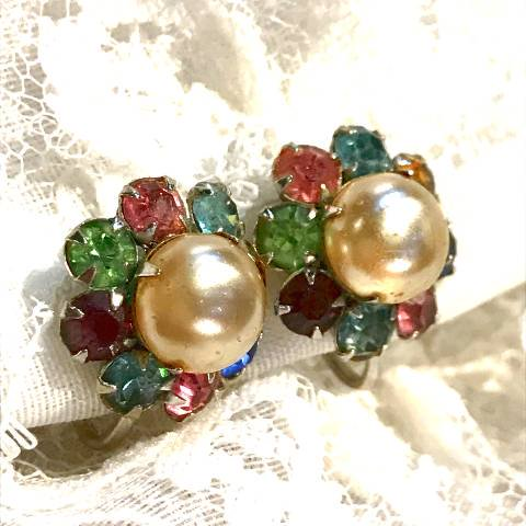 Pearl & Rhinestone Earrings