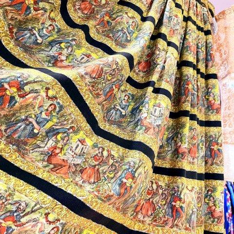 Novelty Border European Printed Skirt