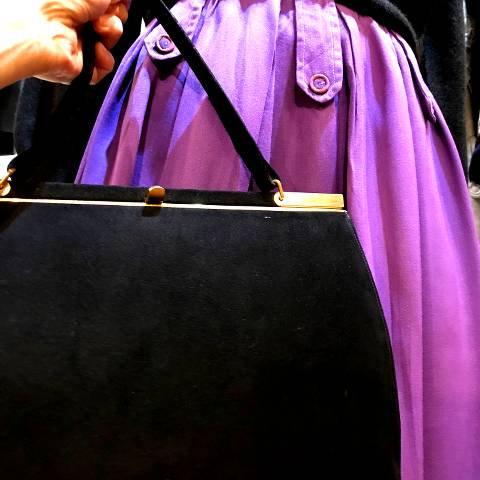 """""""Block"""" Black Fabric Handbag"""