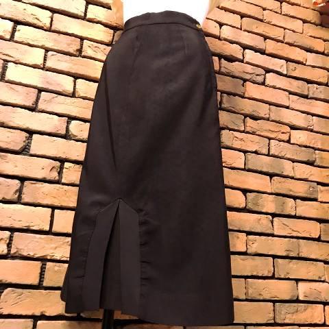 Black Rayon Pencil Skirt