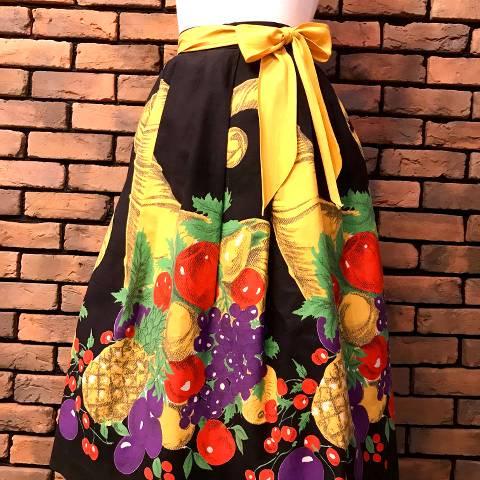 Fruits w/Yellow Belt Skirt