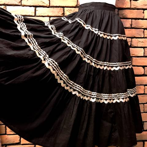 Mexican Squaw Tiered Skirt