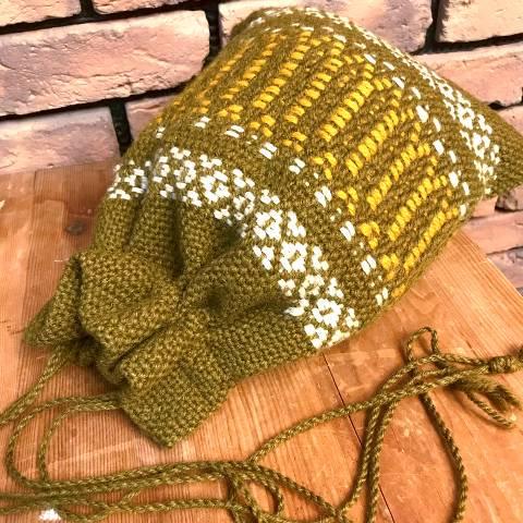 Olive Drawstring Bag